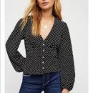 Free people love street blouse